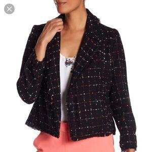 Vince Camuto Fray tweed blazer